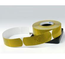 Reflexní páska samolepící žlutá - cisterna, 50m