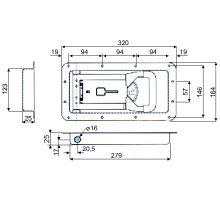 Závěr vestavný PUSH pro 25mm - MRF nerez