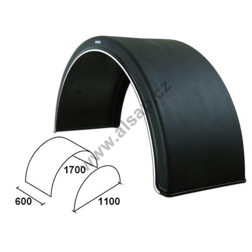 Blatníky WL s bílým okrajem od 450 do 670 mm, DOMAR DK16