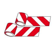 Reflexní páska samolepící červeno/ bílá tř.1, 20 m x 100 mm pravý