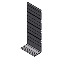 Profil okopový L 260x50mm, síla 2,5mm - al, 7500 mm
