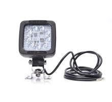 Pracovní světlo / couvací světlo 9 LED 1350lm/14,4W, W81 černé s držákem, 104 x104 mm