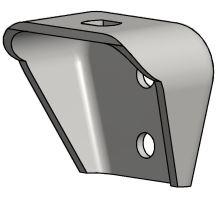 Konzole 70 mm, gal. zinek