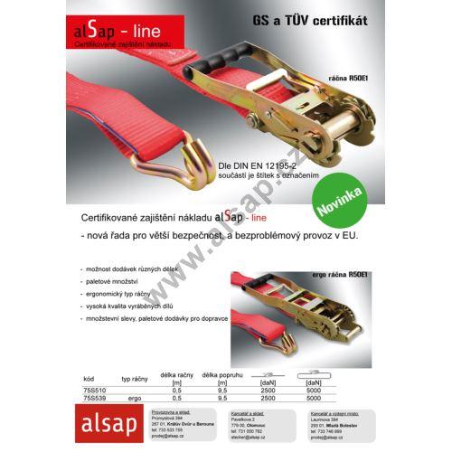alSap line - popruhy