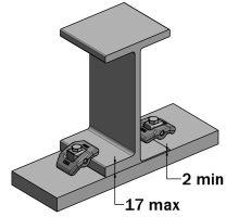 Svorka ocelová pro rám 2-17 mm, 39,5x58 mm, o 8,3 mm