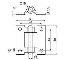 Pant rovnolistý 60x60mm - nerez