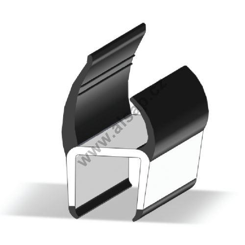 Těsnění PVC 19mm šedé/šedé, 2 jazýčky, 5 m N