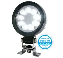 Pracovní světlo 9 LED 5000 lm / 47,5W, W162 černý hliníkový kryt, o 108, h 47 mm, NEW