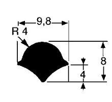 Těsnění zadních dvířek středové  (1,6 m)