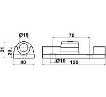 TIR pant velký 120 mm, závěs, gzink
