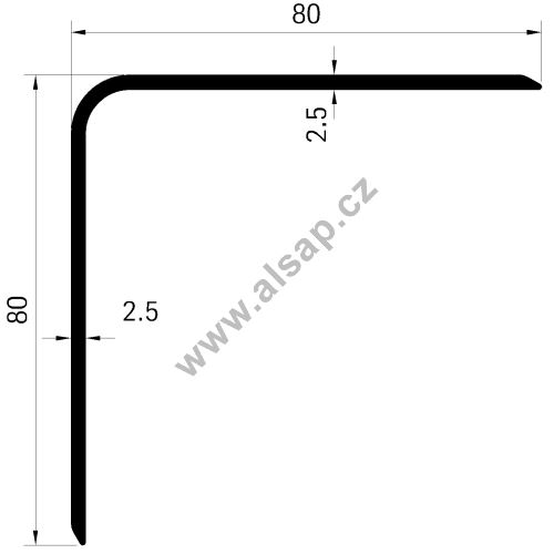 Profil venkovní skříně 80x 80mm - al