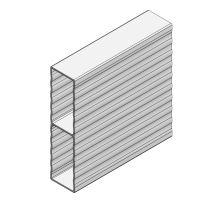 Profil plachtového prkna WAVE 100x25 mm -elox
